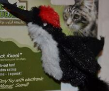 """""""Knock Knock"""" Woodpecker with Electronic Real Mouse Squeak Cat Toy"""