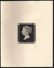 GREAT BRITAIN #1 1d black, Enlarged Die Sunk Reproduction, Peckmore imprint