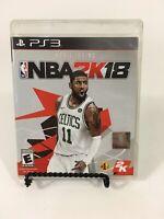 PS3 NBA 2K18 Complete Kyrie Irving Basketball CIB