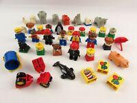 Lego Duplo Bundle Joblot Vintage Animals Figures Accessories Seals Penguins Pig