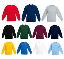 Jungen Mädchen Sweat Kinder Pullover Sweatshirt Fruit of the Loom 2er Pack
