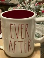 """Rae Dunn LL White Valentine """"EVER AFTER"""" Mug with Red Interior /NEW"""