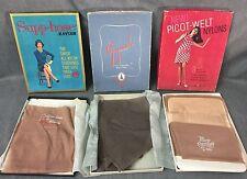 3 Pairs Vintage Sexy NOS Women's Nylon STOCKINGS in Original Boxes Gay Mode