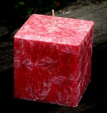 200hr AUSTRALIAN SANDALWOOD & BORONIA Scented Square CANDLE Bevelled Edges GIFTS