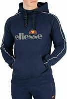 New Ellesse Mens Hoodie Hoody Black Overhead Chest Logo Barreti RRP £65
