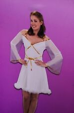 Womens Pretty Angelic Peaceful Angel Halloween Costume White 8 10 12  Med Lg NEW