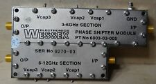 WESSEX ELECTRONICS  PHASE SHIFTER MODULE 6003-03-05 3-6 GHZ SECTION & 6-12GHZ