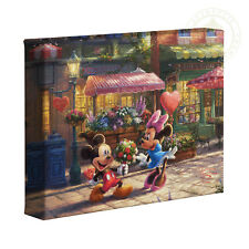 Thomas Kinkade Mickey and Minnie Sweetheart Cafe 8 x 10 Gallery Wrapped Canvas