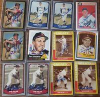 Lot of 35 Autographed HOF cards - signed - Ashburn, Snider, Hunter, Kell, Doerr