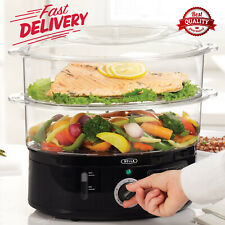Food Steamer Cooker Electric Healthy Vegetable Steaming Pot Stackable Baskets