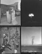 Nuclear Bomb Testing Area 51 '50s: Vintage One-Of-A-Kind 4 X 5 B/W: 2 Color Neg