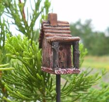 Miniature Birdhouse Feeder Fairy Gnome Hobbit Garden WS 1578