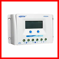 VS3024 LCD display Solar Charge Controller Panel 12V 24V Automat. Regulator NEW