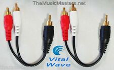 """2X Premium RCA Audio """"Y"""" Cable Adapter HQ Splitter 1 Male to 2 Male Plugs VWLTW"""