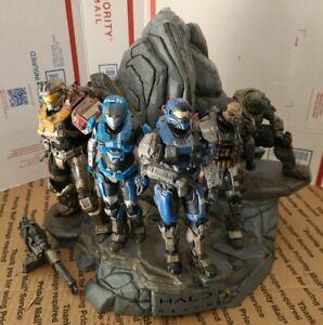 2010 Halo Reach Noble Team Statue 5 Figures Legendary Edition-READ DESCRIPTION