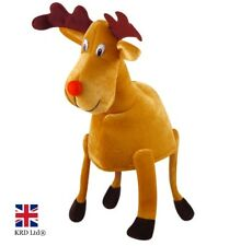 ADULT RUDOLPH REINDEER HAT Novelty Plush Toy Funny Christmas Xmas Fancy Dress UK