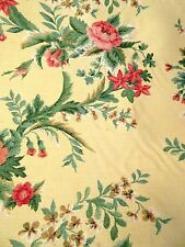 Vintage Schumacher Yellow Floral Tapestry Fabric 7+ yards Some Flaws Please Read