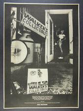 1974 Jerry Jeff Walker Walker's Collectibles album promo vintage print Ad
