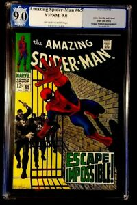 Silver Age Comic Amazing Spider-Man #65 PGX Graded 9.0! Foggy Nelson App.