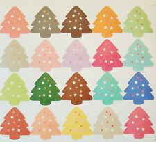 100 Tannenbäume Weihnachten Aufkleber Sticker basteln Nikolaus Kinder