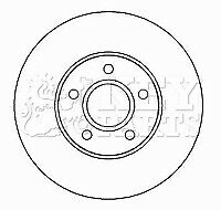 FORD FOCUS C-MAX 2x Brake Discs (Pair) Vented Front 1.6 1.6D 03 to 07 278mm Set