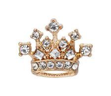 Knighthood Royal Crown Swarovski Lapel Pin Badge Brooch (Golden)