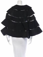 SPECTACULAR NWT $4,085 COMME DES GARCONS PANELED CAPE WITH SAFETY PINS SEAMS