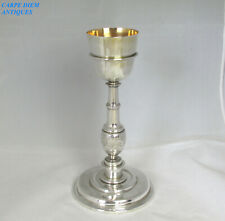 More details for antique rare 18thc spanish colonial solid silver chalice 475g 28cm high c1780