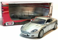 ASTON MARTIN DB9 COUPE 1:24 Scale Metal Diecast Toy Car Model Miniature Silver