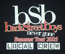 NEW Back Street Boys 2005 XL T Shirt BSB Local Crew Never Gone Summer Tour