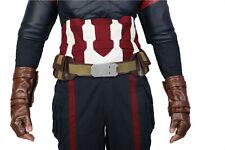 Captain America Cosplay Belt Costume Props Steven Rogers Pockets Hero Adult New