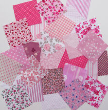 Patchwork squares.4 ins ( 10 cms)  7 colour choices. Packs of 25. Good value!