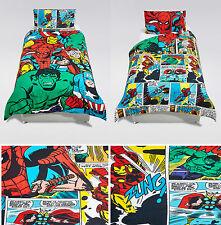 Marvel avengers superhéros housse couette ensemble de literie simple par mark & spencer