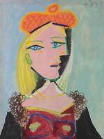 """PABLO PICASSO Poster or Canvas Print """"Femme au Beret Orange"""""""