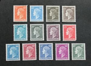 LUXEMBOURG - 1948 SCARCE DUCHESS CHARLOTTE SET TO 8 Fr MH LOT RR