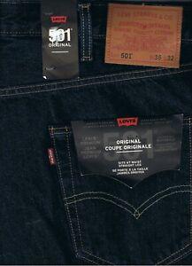 Levi's Jeans Hose Chino 501 Original Premium Dunkelblaublau 501 0101 Baumwolle