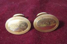 14K Yellow Gold L&A LINK & ANGEL (Newark 1902-1915) Oval Elbow Cufflinks WCM