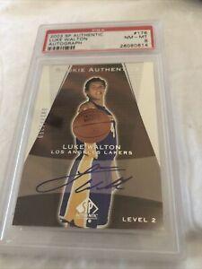 2003 SP Authentic Luke Walton Autograph PSA 8
