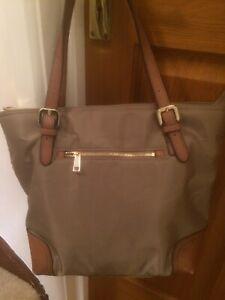 M&S Autograph Bag Leather & Fabric Colour Mink