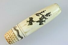 More details for love birds hearts asian needle case screw top thimble birds love letter