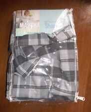 Black NEW Oxford PLAID SMOKE Martha Stewart Pillow SHAM Cotton Blend USA