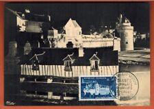 1962 - Fdc carte 1°Jour - Vannes - Les Remparts - Morbihan - Timbre Yt.1333