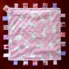 Personalizado Bebé Manta TAGGY Manta Edredón Niño Niña etiqueta del regalo Gris Suave