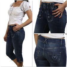 MTS-J001 trendige Damen Trachten Kniebundhose Jeans 30,32,34,36,40,42,44