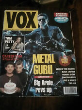 Vox Magazine #12  Sept 1991  Tom Petty, Arnold Schwarzenegger, Cult