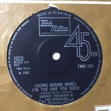 """SMOKEY ROBINSON & MIRACLES: """"(COME ROUND HERE) I'M THE ONE YOU NEED"""" on TMG 761"""