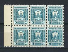 Spain 1937 Arriba Loja Granada Loxa Civil war local block 6 MNH