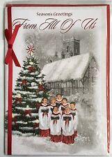 Season's Greetings From All Of Us - Christmas Greeting Card - Merry Christmas