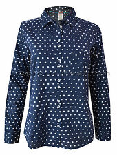 WHITE STUFF Semi Fitted Collared Hip Length Women's Tops & Shirts