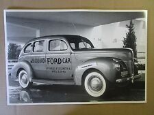 "1940 Ford 4 door 28 Millionth Ford Edgewater NJ  12 X 18"" Black & White Picture"